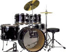 CB Percussion - Junior 5-Piece Drum Kits with Hi-Hat, Crash, Hardware & Throne