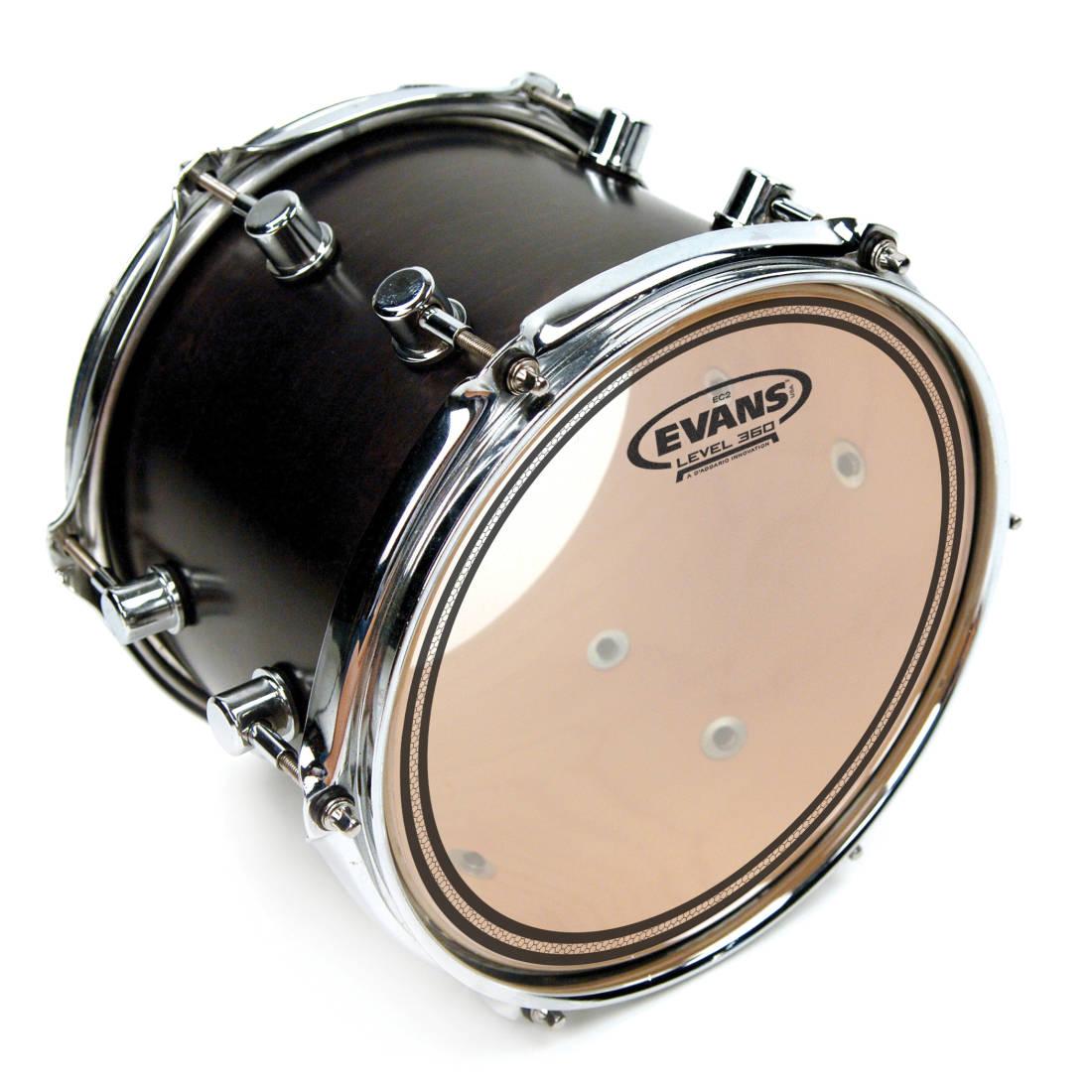 evans tt10ec2s 10 inch clear ec2s drumhead long mcquade musical instruments. Black Bedroom Furniture Sets. Home Design Ideas