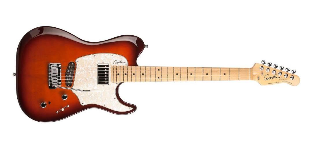 godin guitars session custom 59 lightburst hg mn with bag long mcquade musical instruments. Black Bedroom Furniture Sets. Home Design Ideas