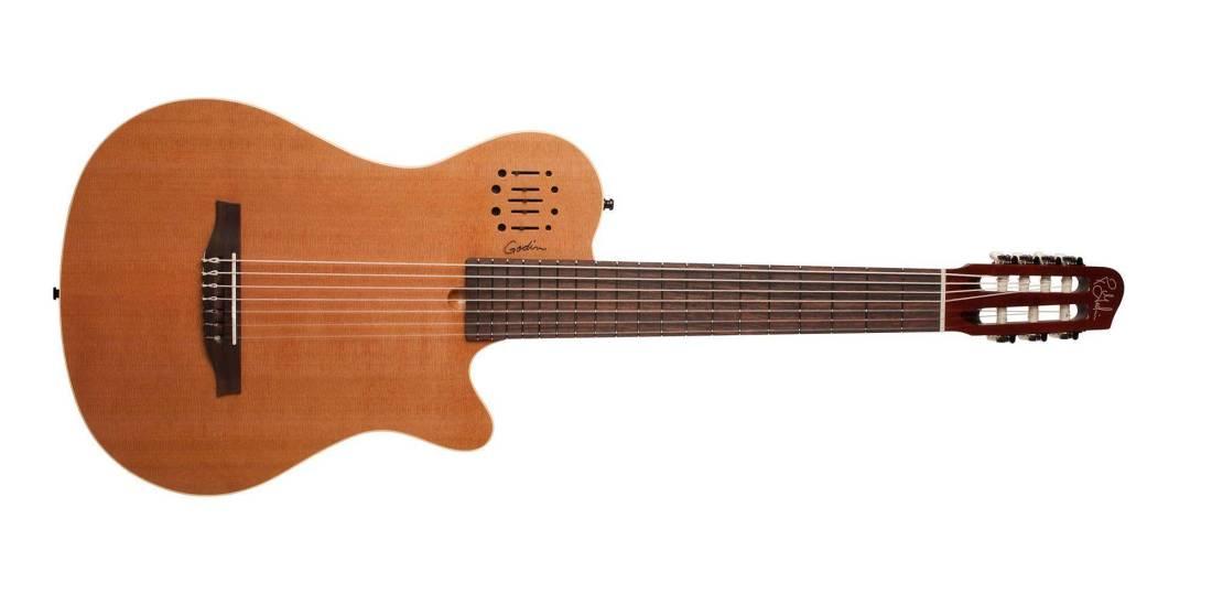 godin guitars multiac encore nylon 7 with bag long mcquade musical instruments. Black Bedroom Furniture Sets. Home Design Ideas