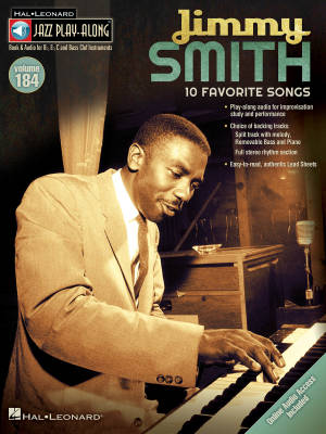 Jimmy Smith: Jazz Play-Along Volume 184 - Book/Audio Online