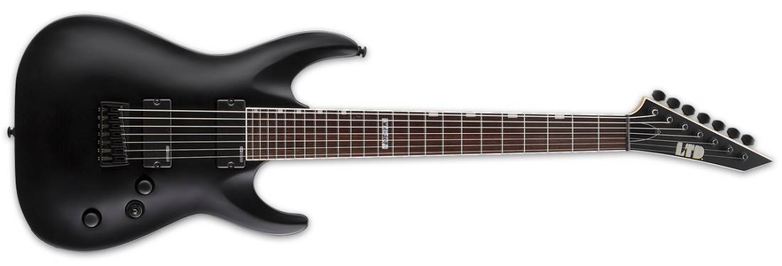 lg_4105712a37b75c345c5cfa802030fa7a esp guitars ltd mh 207 7 string electric guitar black satin  at panicattacktreatment.co