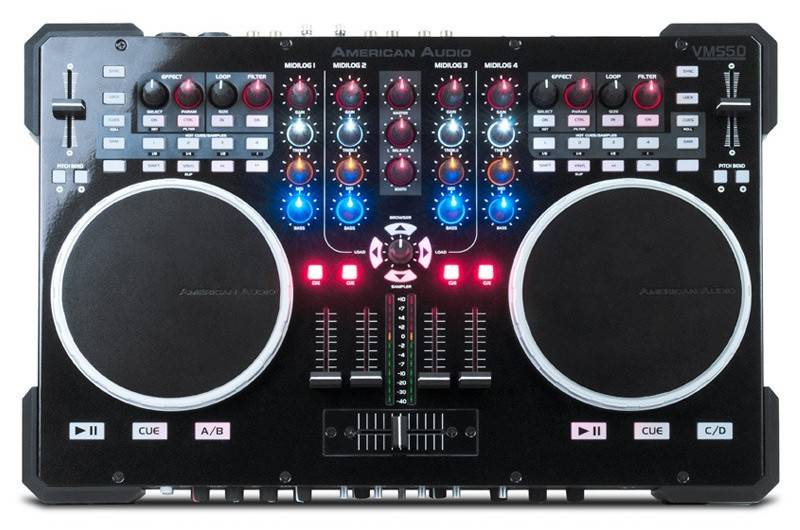 American Audio - VMS5 6-Channel Mixer / Controller w/Virtual DJ 8 LE