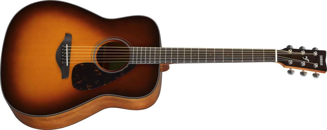 yamaha fg800 spruce top acoustic guitar brown sunburst