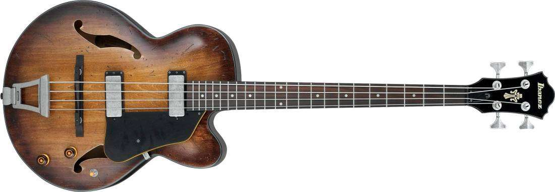 ibanez artcore vintage hollowbody bass tobacco burst low gloss long mcquade musical