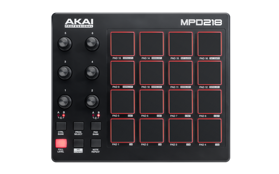 akai mpd218 pad control unit long mcquade musical instruments. Black Bedroom Furniture Sets. Home Design Ideas