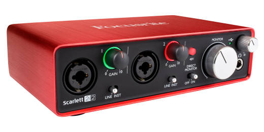 Scarlett 2i2 Gen2 - 24/96 2 In/2 Out USB Audio Interface