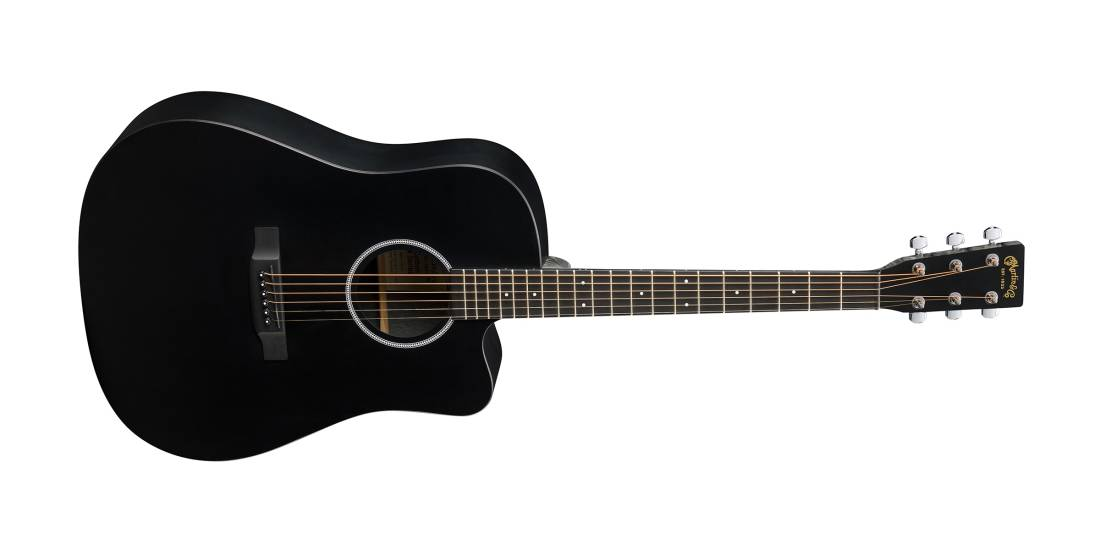 martin guitars dreadnought x series ce acoustic electric with cutaway black long mcquade. Black Bedroom Furniture Sets. Home Design Ideas