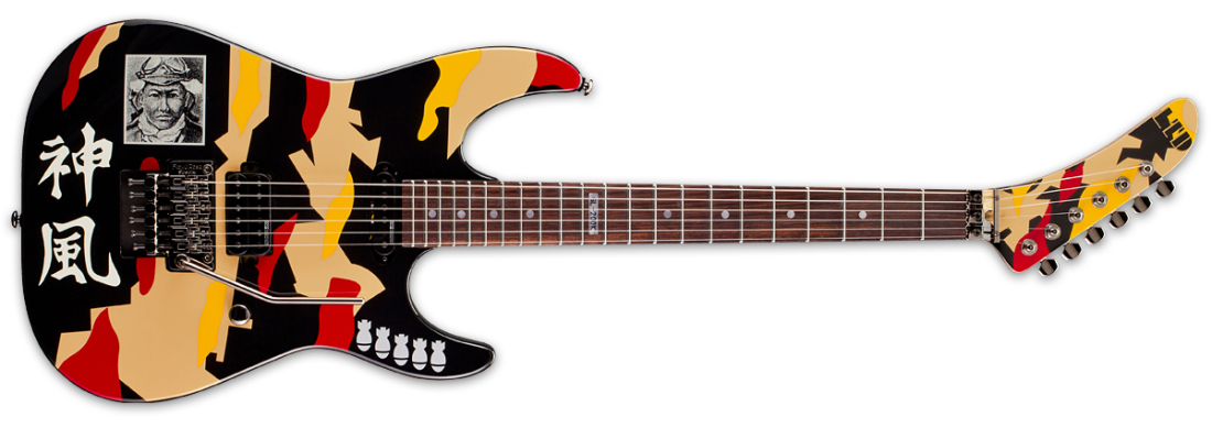 esp guitars gl 200k ltd george lynch kamikaze long mcquade musical instruments. Black Bedroom Furniture Sets. Home Design Ideas