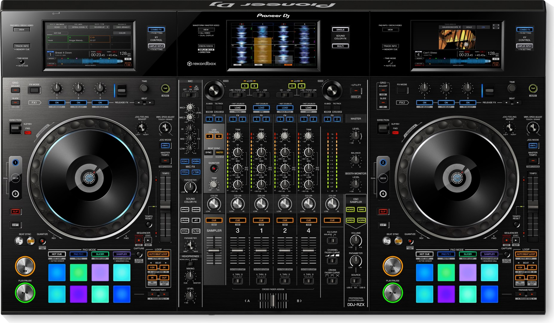 DDJ-RZX Professional 4-Channel DJ Controller for Rekordbox