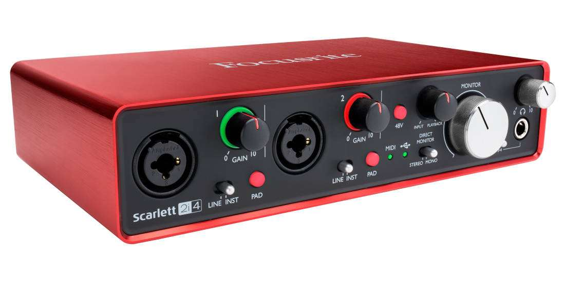 Focusrite - Scarlett 2i4 Gen2 - 24/96 2 In, 4 Out USB 2 0 Audio Interface