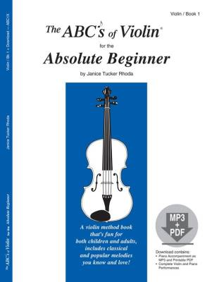 The ABCs Of Violin for The Absolute Beginner - Rhoda - Book/CD