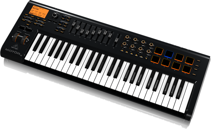 behringer motor49 49 key usb midi controller long mcquade musical instruments. Black Bedroom Furniture Sets. Home Design Ideas