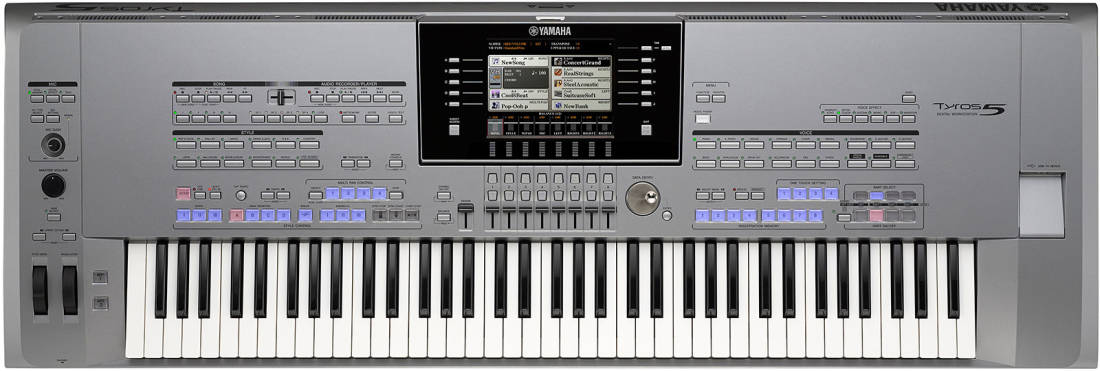 yamaha tyros 5 76 key arranger workstation long