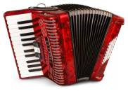 Hohnica 1304 Piano Accordion - 26 Keys/48 Bass - Red