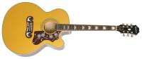 Epiphone - EJ-200SCE Electric Acoustic Cutaway in Metallic Gold Ltd