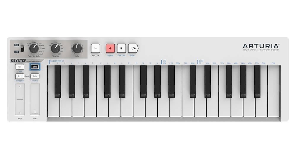 arturia keystep 32 slimkey controller sequencer long mcquade musical instruments. Black Bedroom Furniture Sets. Home Design Ideas