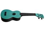 Kala - Waterman Composite Soprano Ukulele - Glow-in-the-Dark Aqua