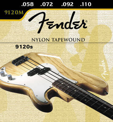 fender nylon tape wound bass strings 58 110 long mcquade musical instruments. Black Bedroom Furniture Sets. Home Design Ideas