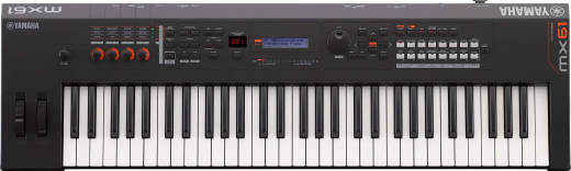MX BK/BU Series 61-Key Synthesizer (128 Polyphony) - Black