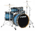 Sonor - Select Force Stage 3 5-Piece Shell Pack - 22/10/12/16/Snare - Blue Galaxy Sparkle
