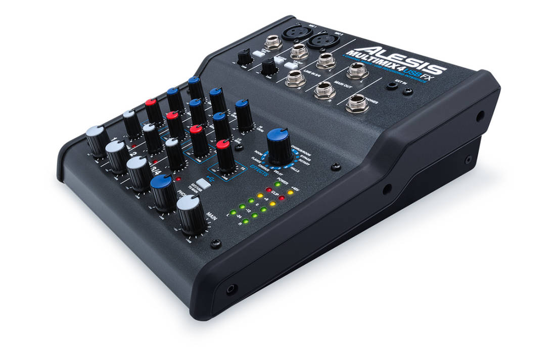 alesis multimix 4 channel usb mixer with effects long mcquade musical instruments. Black Bedroom Furniture Sets. Home Design Ideas