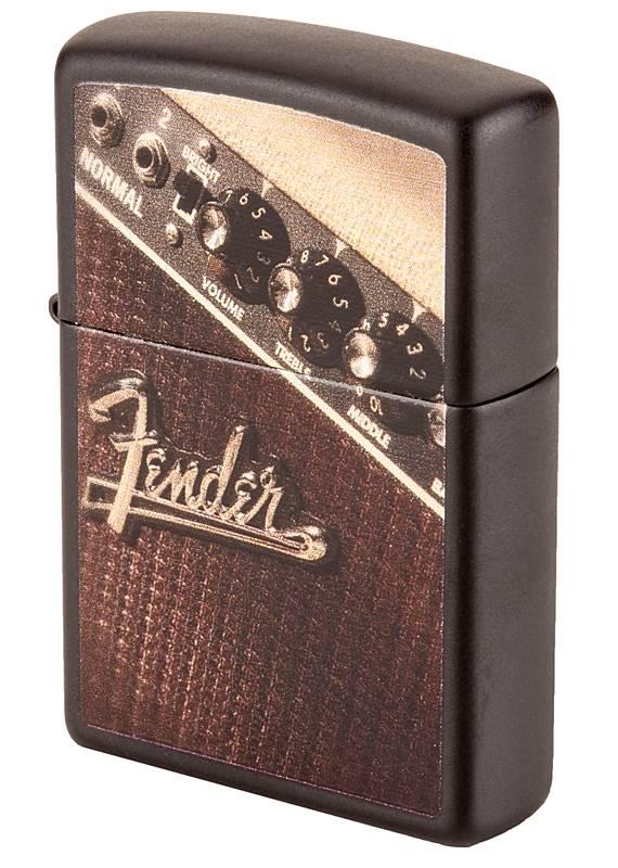 Fender Zippo Lighter Amp Brown Long Amp Mcquade Musical