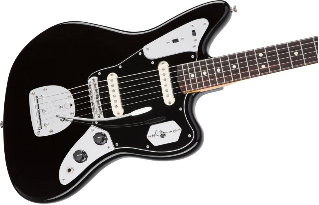 fender johnny marr jaguar electric guitar black long mcquade musical instruments. Black Bedroom Furniture Sets. Home Design Ideas