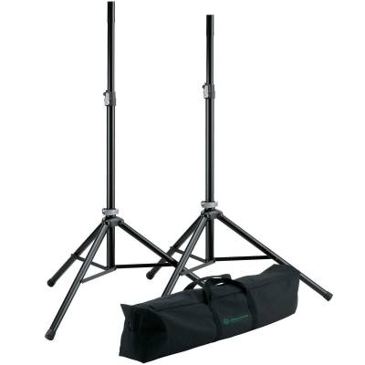 Aluminum Speaker Stands w/Case - Pair