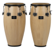 Gon Bops - Fiesta 11&12 Congas with Stand - Natural