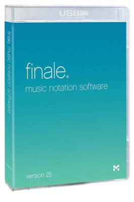 Finale Version 25 Music Notation Software - Boxed