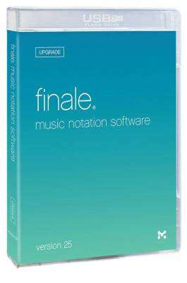 Finale Version 25 Music Notation Software Box Upgrade