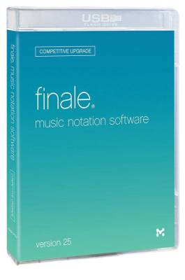 Finale Version 25 Music Notation Software Competitive Upgrade