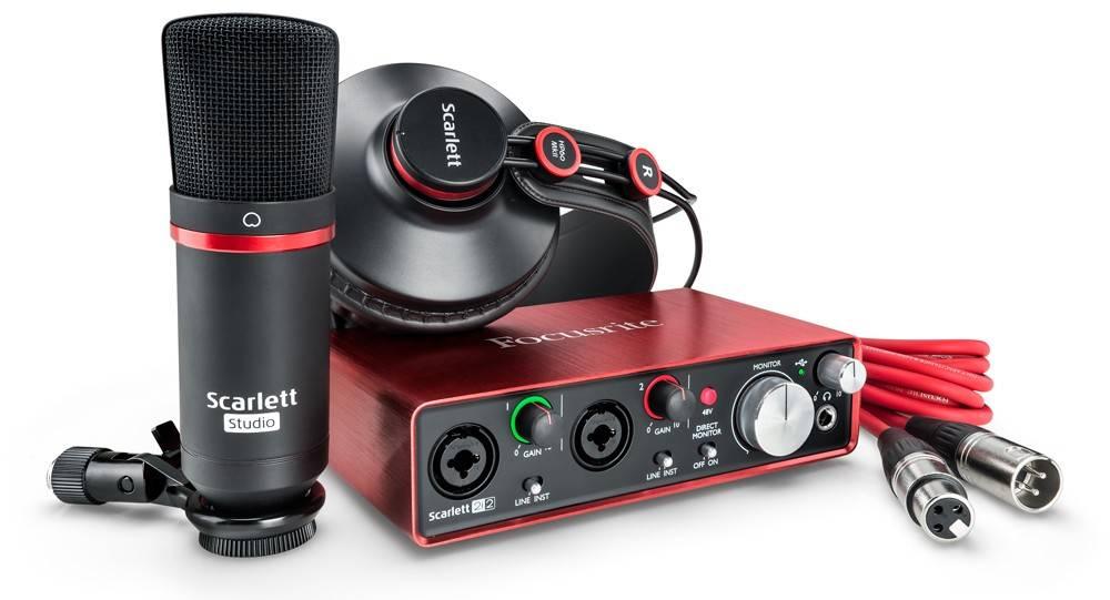 focusrite scarlett studio pack mk2 with 2i2 mic headphones long mcquade musical instruments. Black Bedroom Furniture Sets. Home Design Ideas