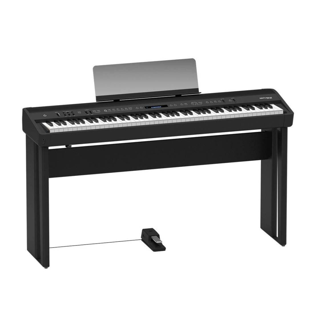 roland digital piano black long mcquade musical instruments. Black Bedroom Furniture Sets. Home Design Ideas