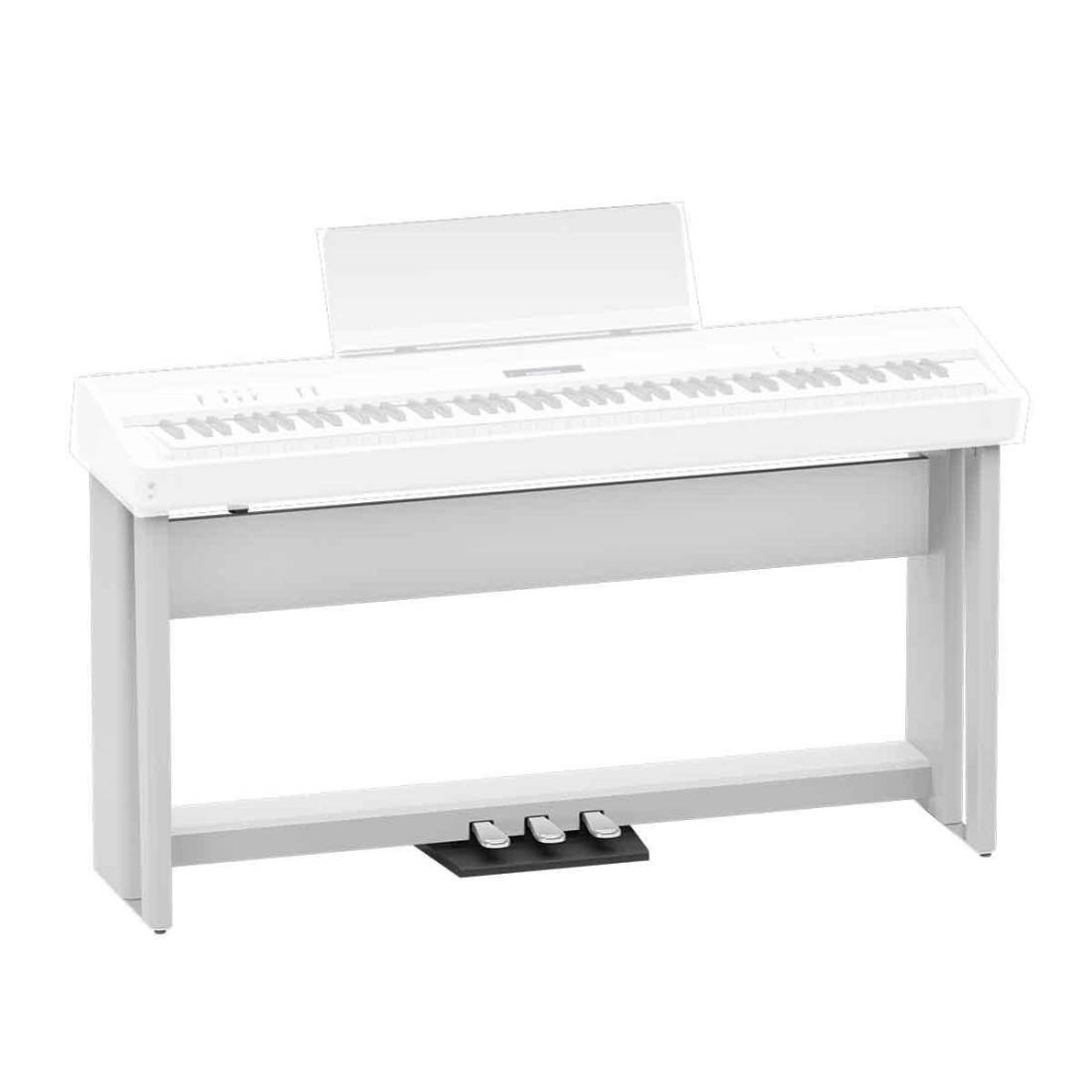 roland digital piano stand white long mcquade musical instruments. Black Bedroom Furniture Sets. Home Design Ideas