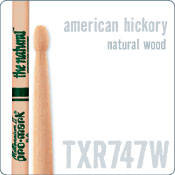 747 Hickory Drum Sticks with Wood Tip