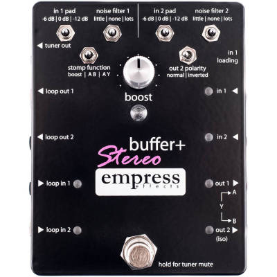 Buffer+ Stereo Guitar Pedal with Boost/Filter