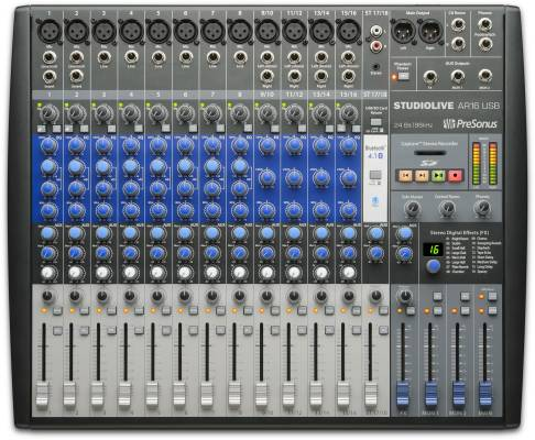 StudioLive AR16 USB - 18-Channel Hybrid Performance and Recording Mixer