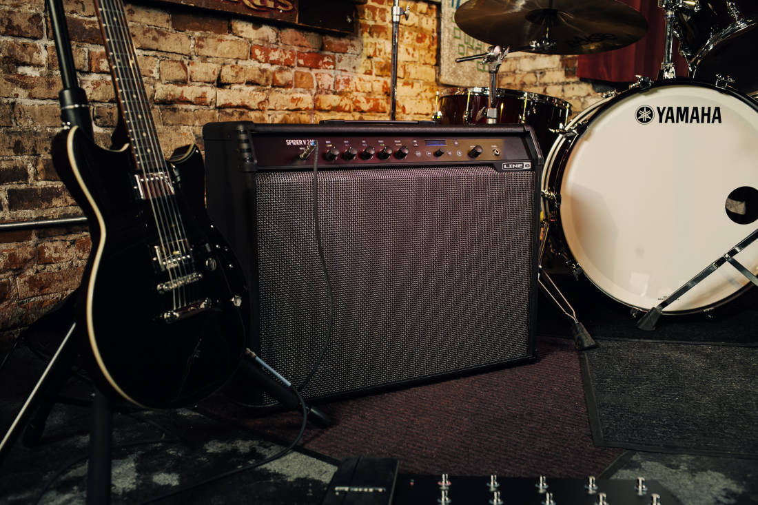 line 6 spider v 240 watt 2x12 39 39 guitar combo long mcquade musical instruments. Black Bedroom Furniture Sets. Home Design Ideas
