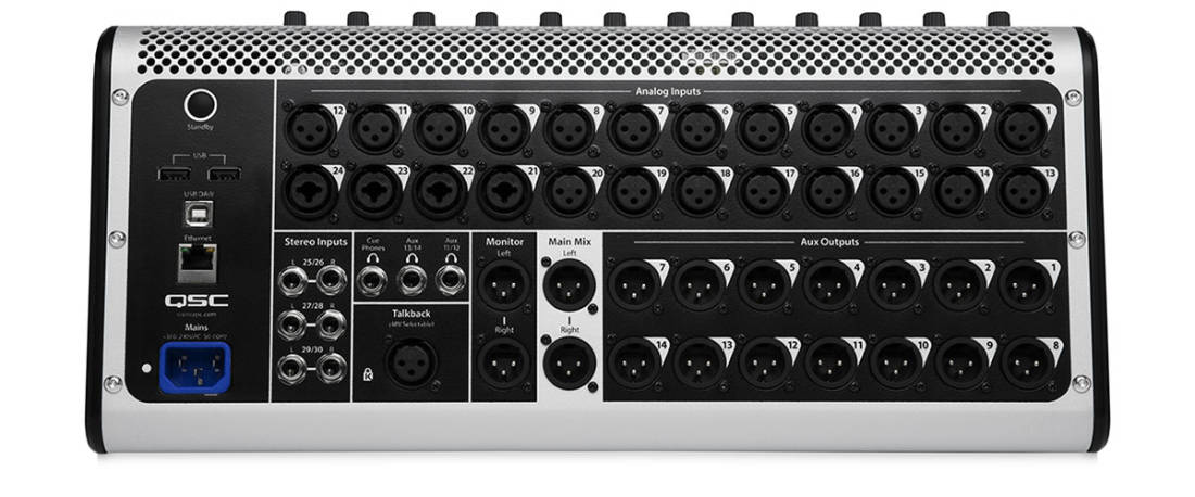 qsc touchmix 30 pro 32 channel professional digital mixer with touchscreen long mcquade. Black Bedroom Furniture Sets. Home Design Ideas