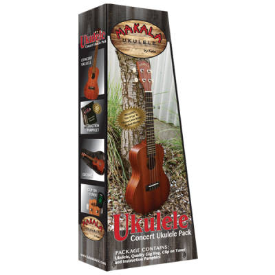 Concert Ukulele Pack with Bag and Tuner