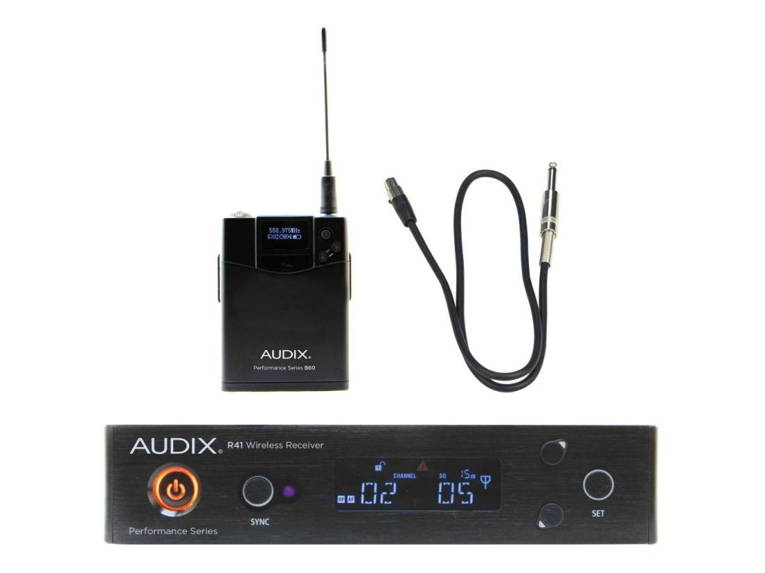 audix wireless guitar system with 1 4 inch plug long mcquade musical instruments. Black Bedroom Furniture Sets. Home Design Ideas