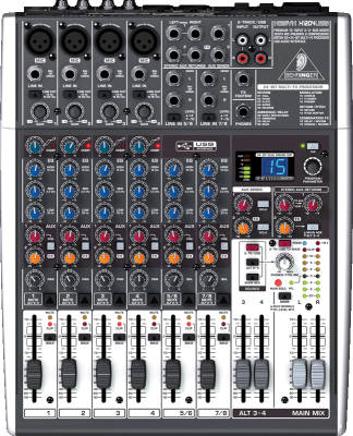 X1204 USB - 12 Input 2/2 Bus Mixer with EFX and USB