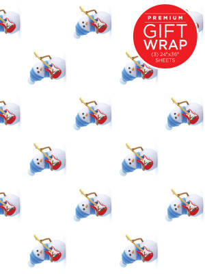 Hal Leonard Wrapping Paper: Snowman Theme - 3 Sheets (24''x36'')