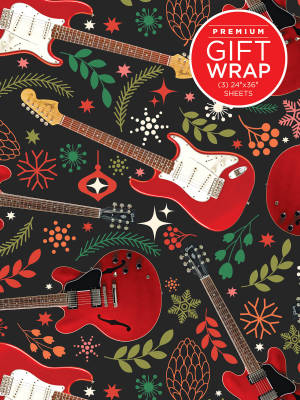 Hal Leonard Wrapping Paper: Red Guitar Theme - 3 Sheets (24''x36'')
