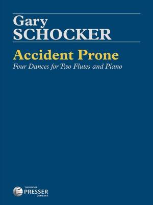 Accident Prone: Four Dances for Two Flutes and Piano - Schocker - Book