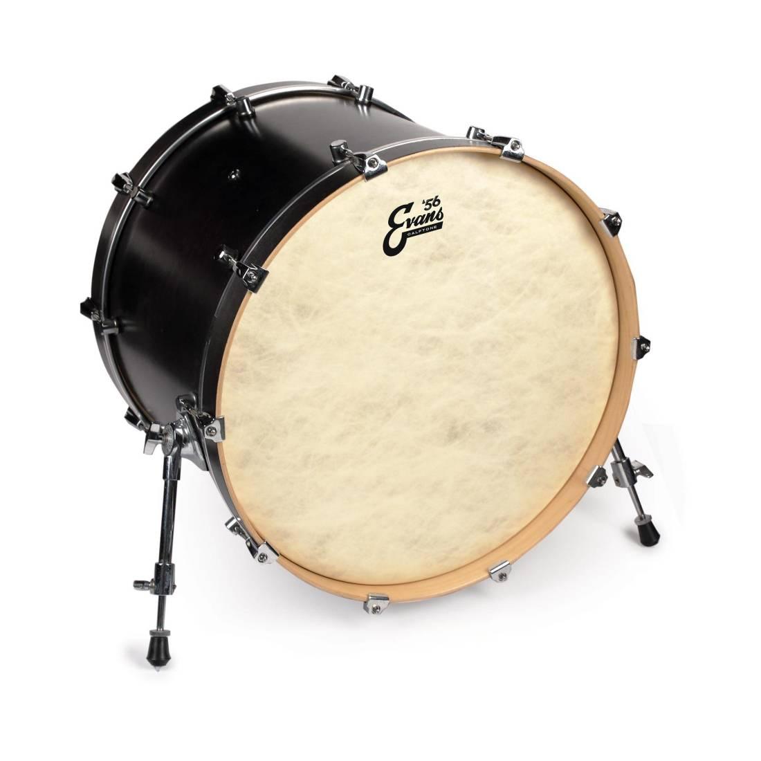 evans calftone bass drum head 24 inch long mcquade musical instruments. Black Bedroom Furniture Sets. Home Design Ideas