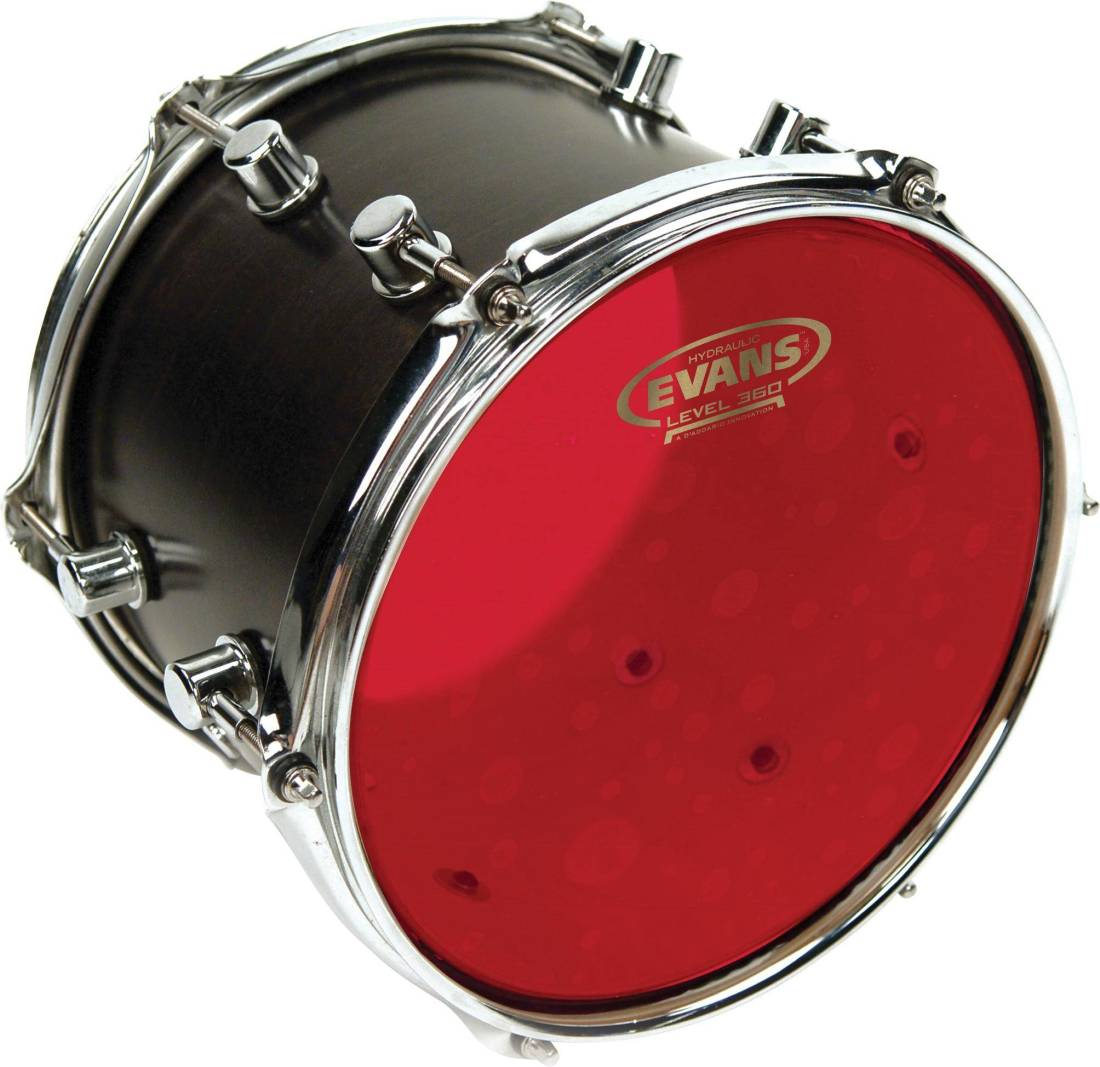evans hydraulic red drum head 6 inch long mcquade musical instruments. Black Bedroom Furniture Sets. Home Design Ideas