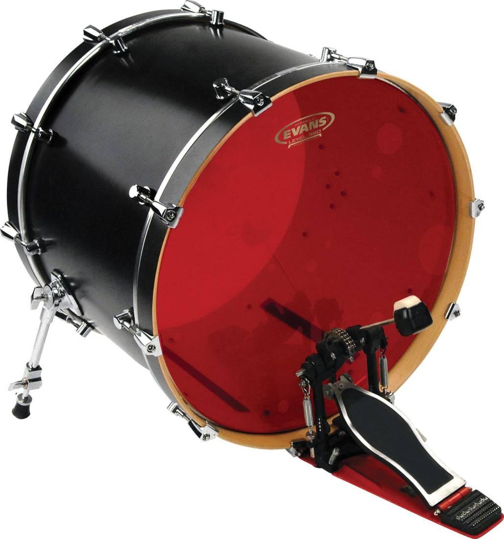 Evans Hydraulic Red Bass Drum Head 22 Inch Long